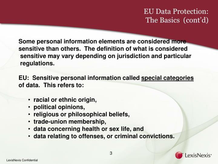 EU Data Protection: