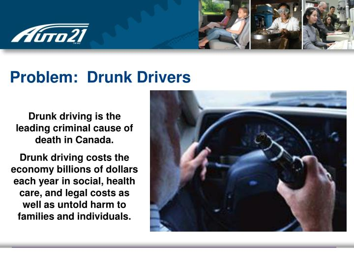 the problem of drunk driving