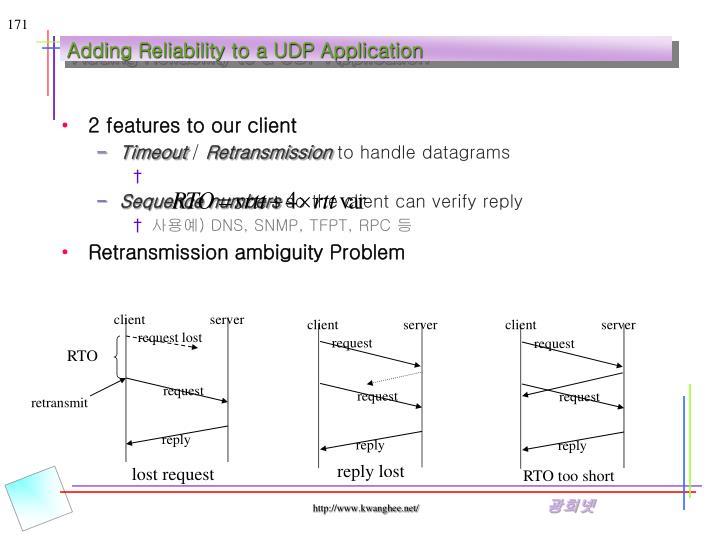 Adding Reliability to a UDP Application