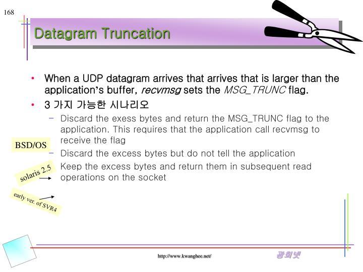 Datagram Truncation