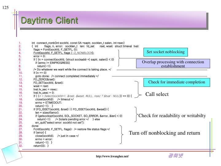 Daytime Client