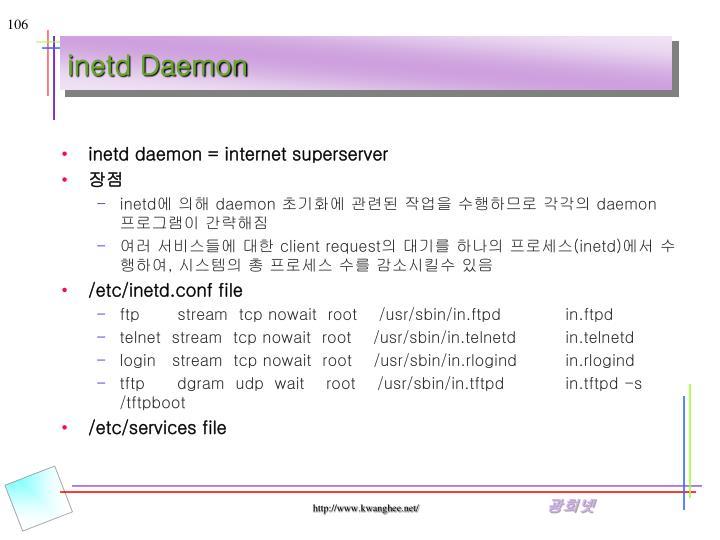 inetd Daemon