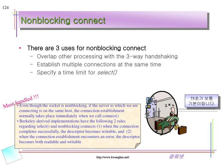 Nonblocking connect