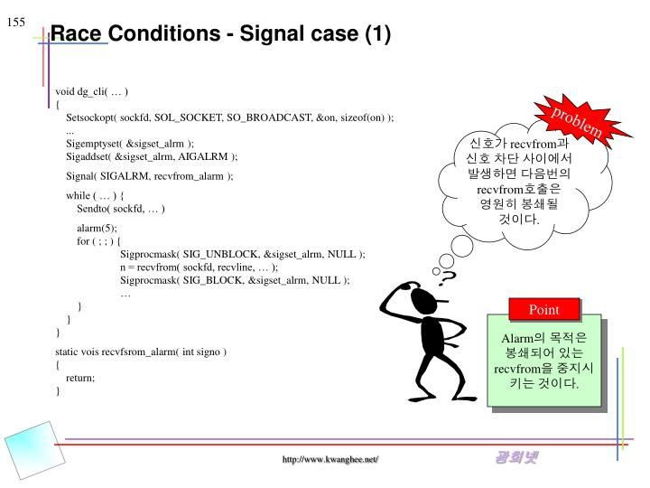 Race Conditions - Signal case (1)