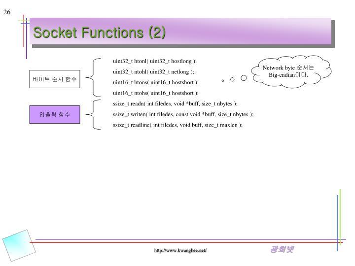 Socket Functions (2)
