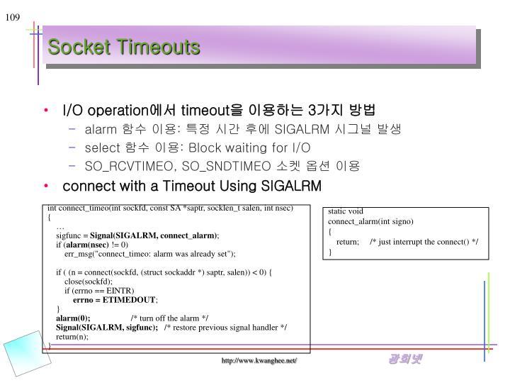 Socket Timeouts