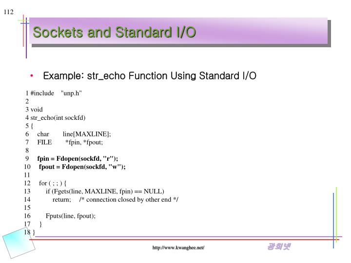 Sockets and Standard I/O