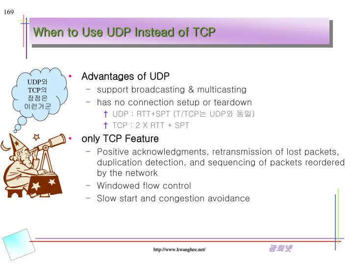 When to Use UDP Instead of TCP