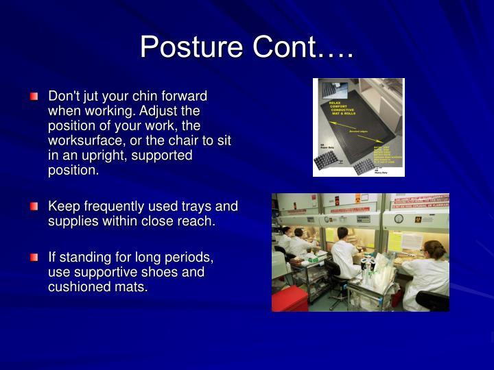 Posture Cont….
