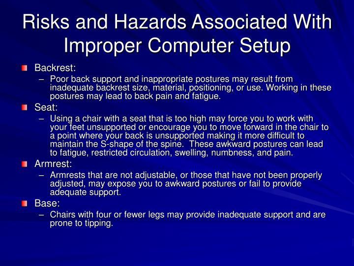 Risks and Hazards Associated With Improper Computer Setup