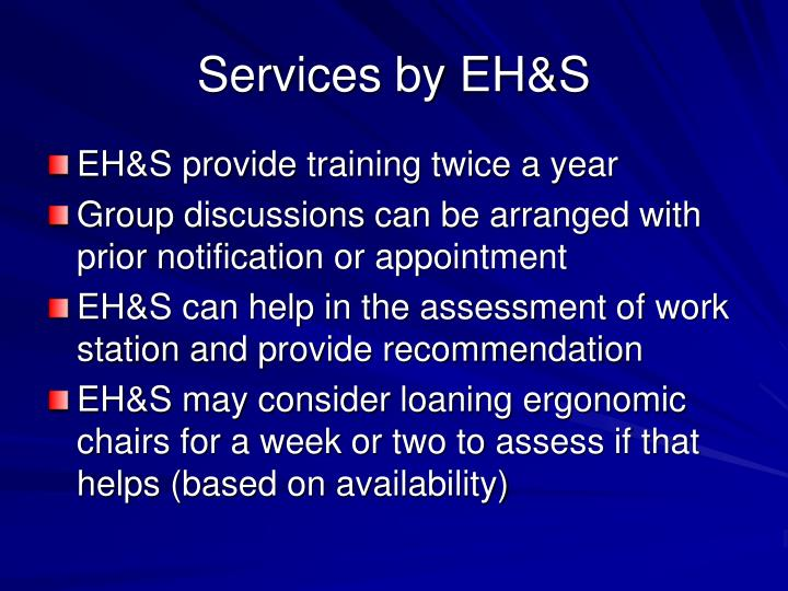 Services by EH&S