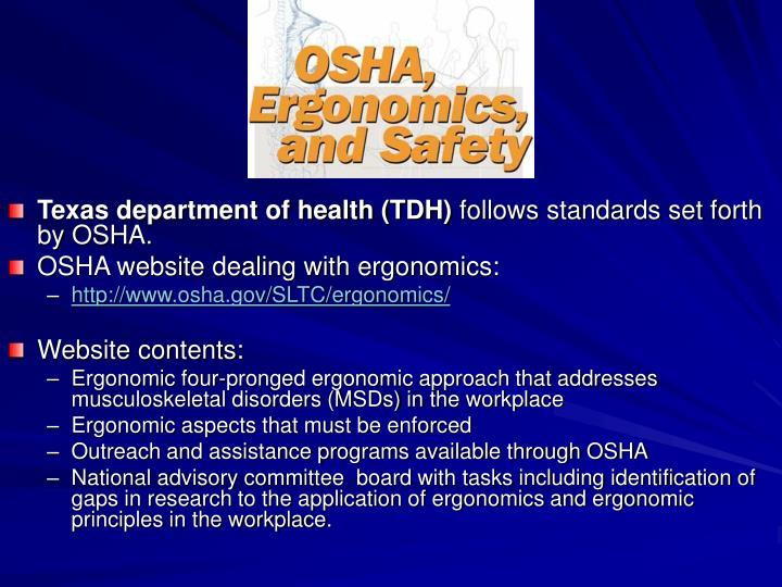 Texas department of health (TDH)
