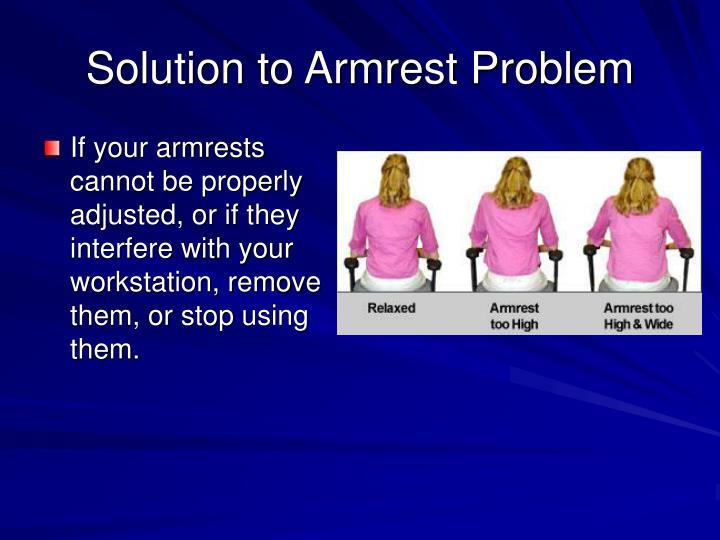 Solution to Armrest Problem