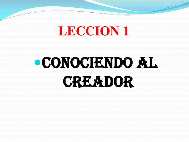 LECCION 1
