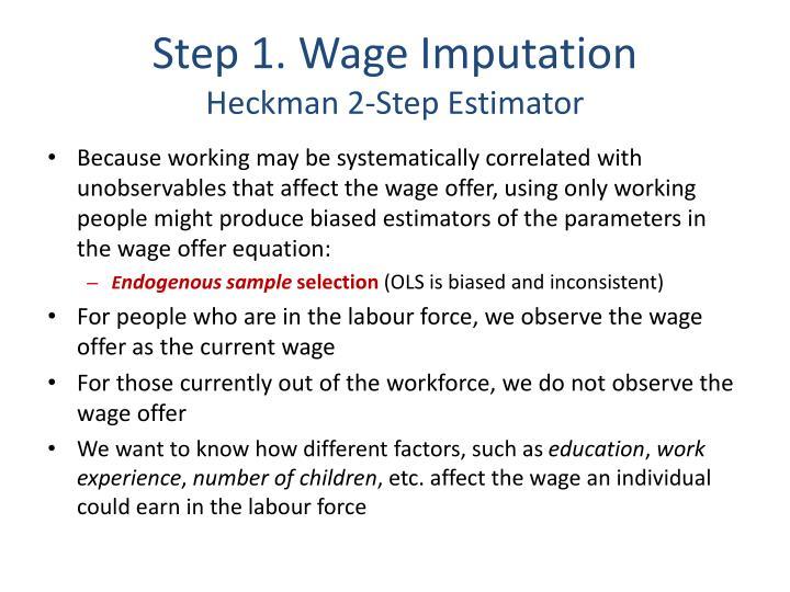Step 1. Wage Imputation