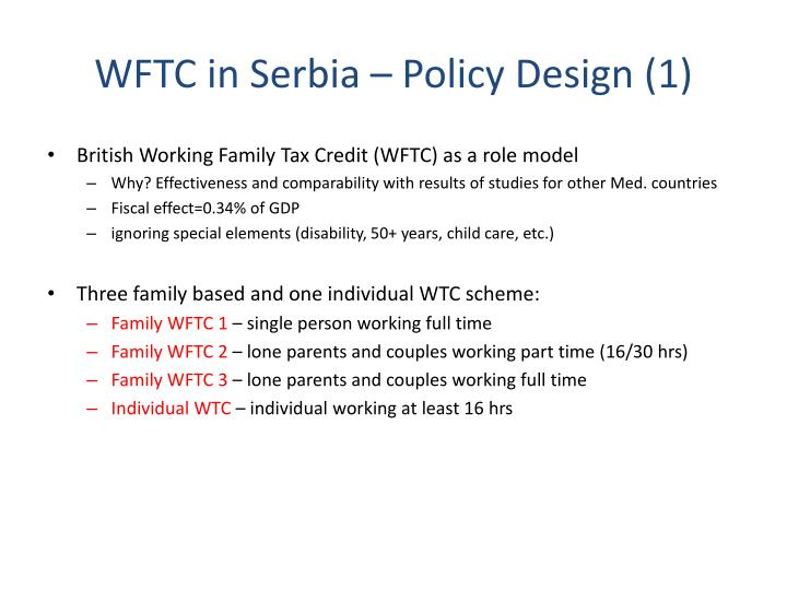WFTC in Serbia – Policy Design (1)