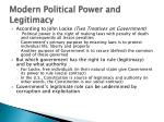 modern political power and legitimacy