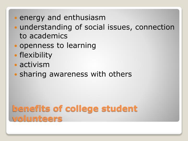 energy and enthusiasm