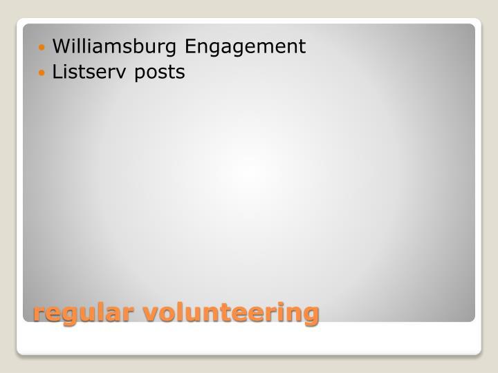Williamsburg Engagement