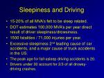sleepiness and driving