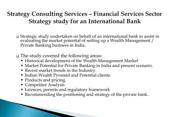 Strategy Consulting Services – Financial Services Sector