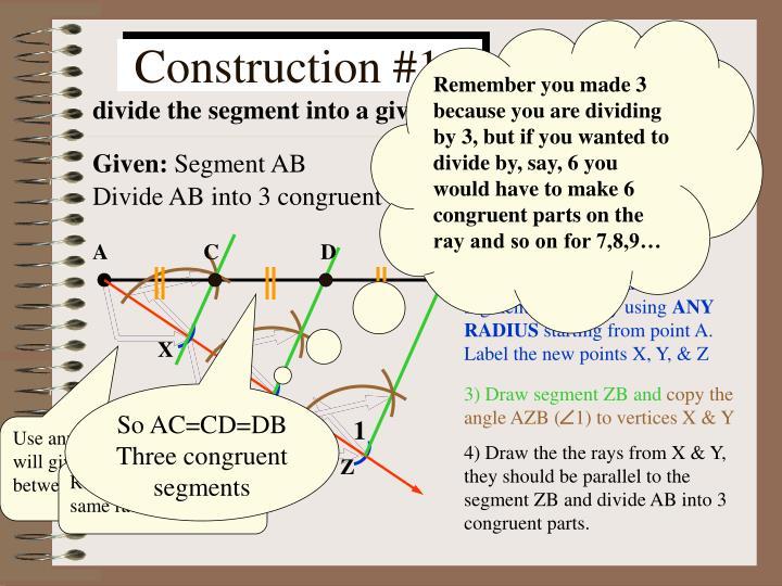 1) Construct