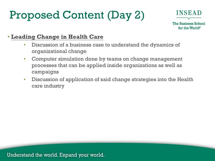 Leading Change in Health Care
