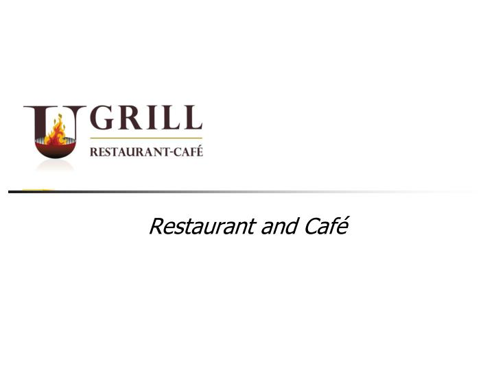 restaurant and caf n.