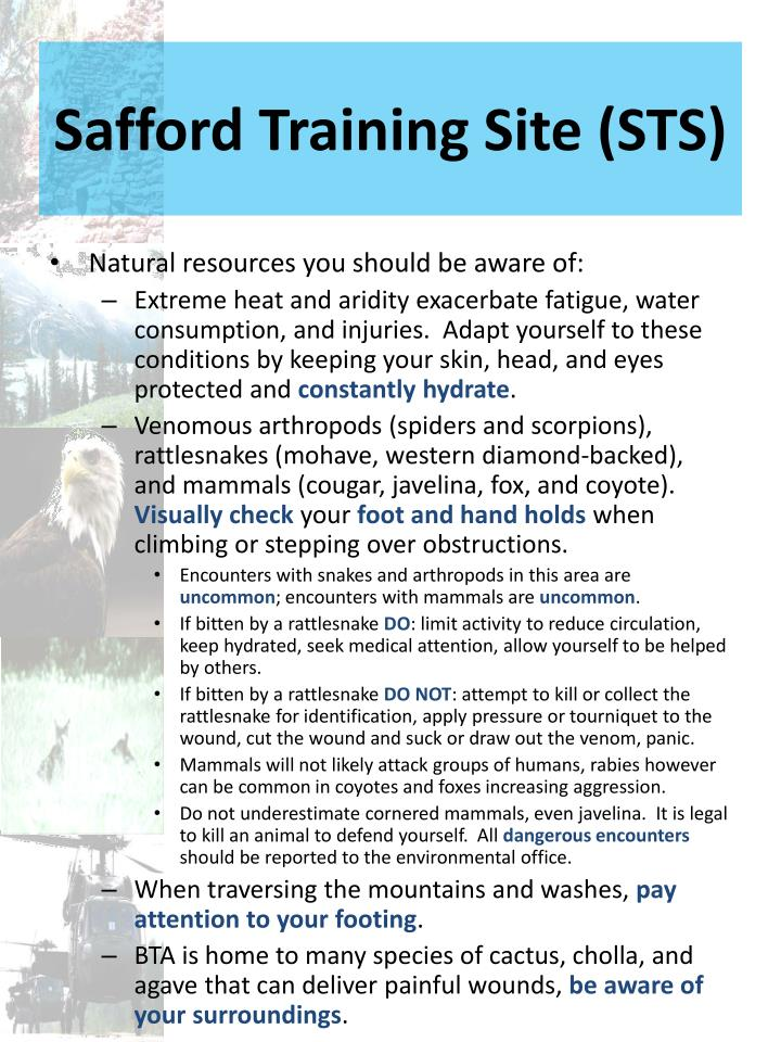 Safford Training Site (STS)