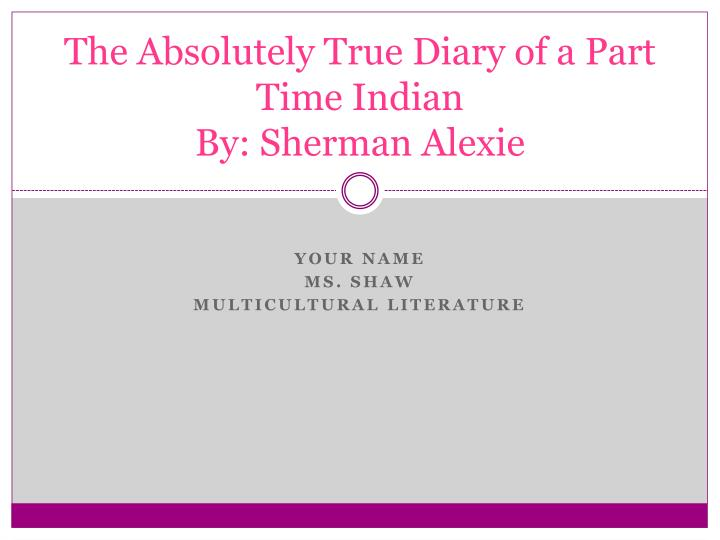 the absolutely true diary of a part time indian essay conclusion This is a visual summary of the absolutely true diary of a part time indian by alexie sherman by adolescent development teacher credential class: sonoma stat.