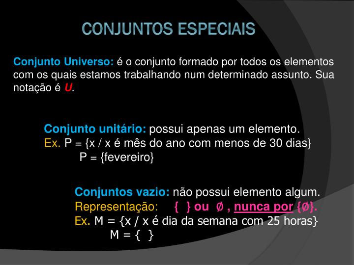 Conjunto Universo: