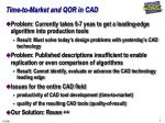 time to market and qor in cad