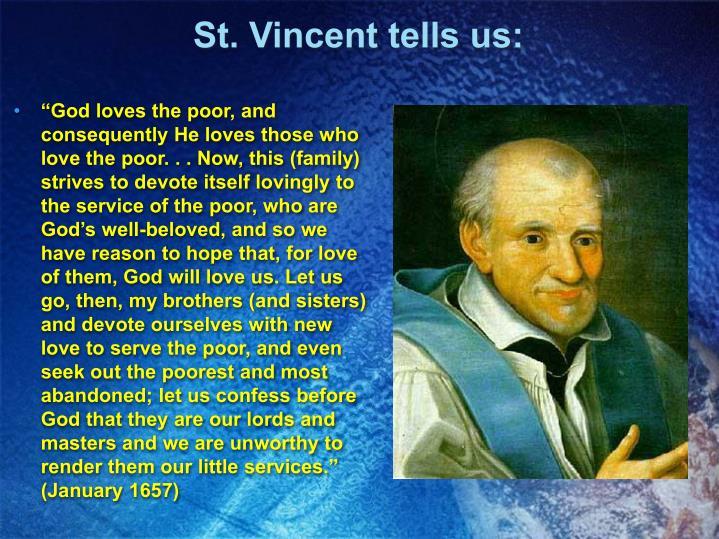 St. Vincent tells us: