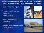 measuring migration in the census un ece eurostat recommendations