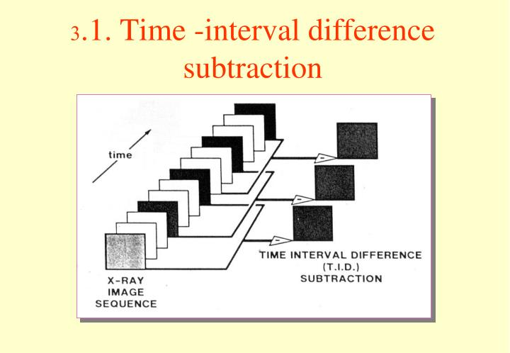 3.1. Time -interval difference subtraction
