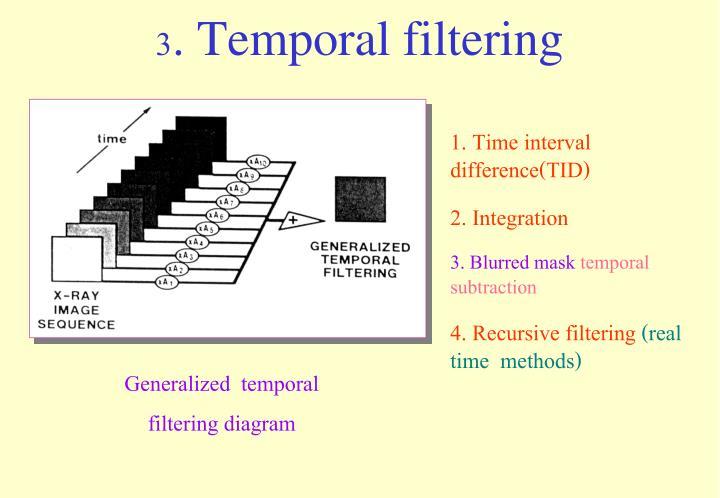 3. Temporal filtering