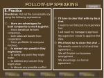 follow up speaking2