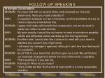 follow up speaking3