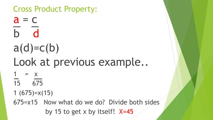 Cross Product Property: