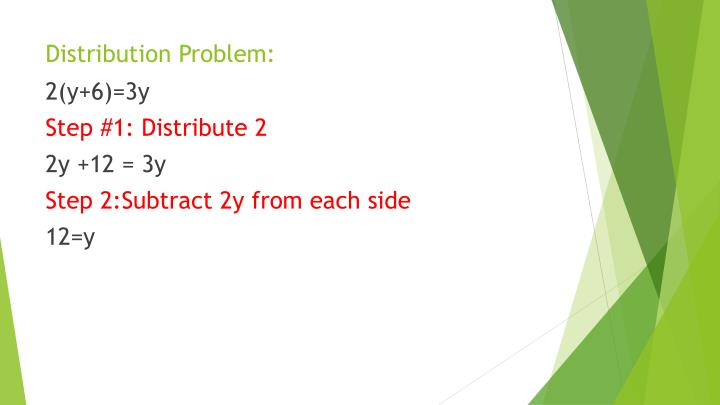 Distribution Problem: