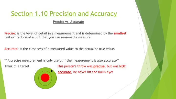 Section 1.10 Precision and Accuracy