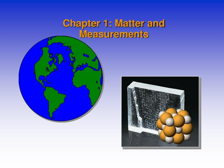 chapter 1 matter and measurements n.