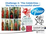 challenge 2 the celebrities the key to a successful show