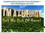 implementing smoke free hospitals the challenges we face
