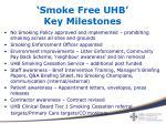 smoke free uhb key milestones