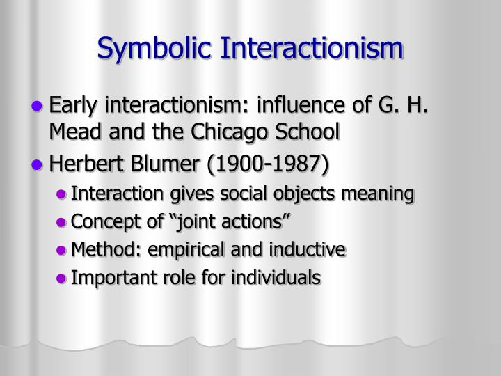Ppt Symbolic Interactionism Powerpoint Presentation Id7050213