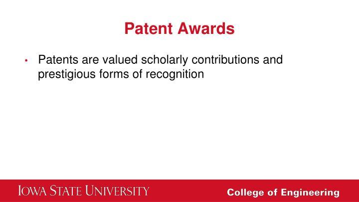 Patent Awards