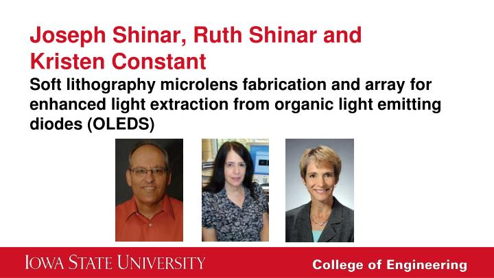 Joseph Shinar, Ruth Shinar and