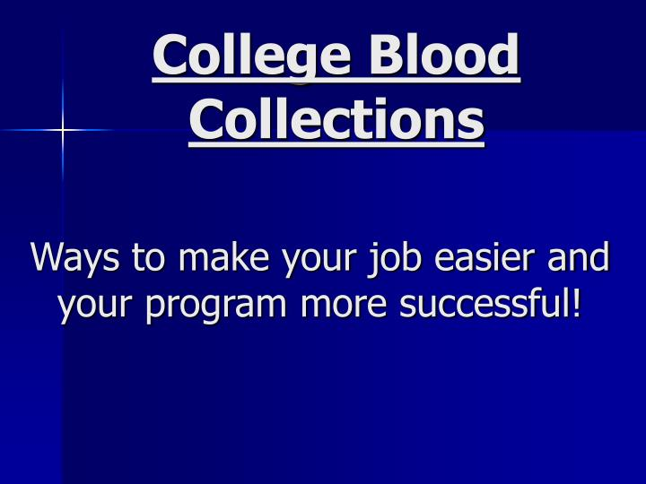 ways to make your job easier and your program more successful n.