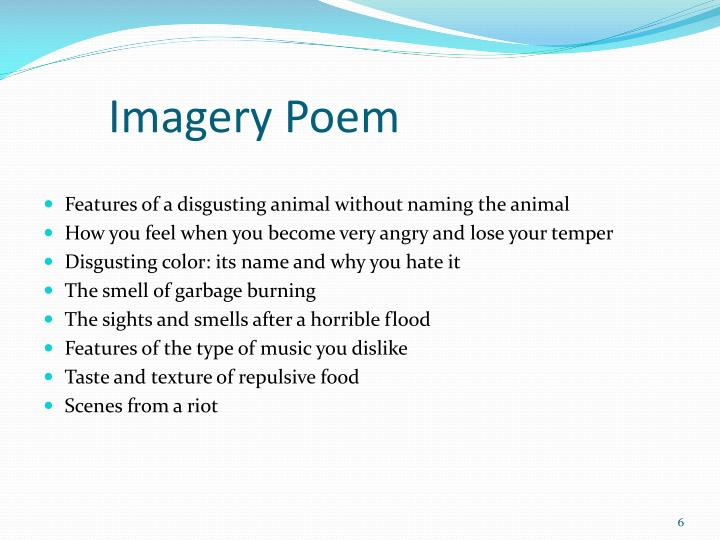 Imagery Poem